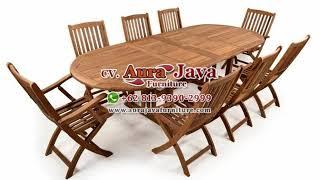 Teak Set Dining Table   Dining Table   Jepara Furniture   Indonesia Furniture   Ajf   2019