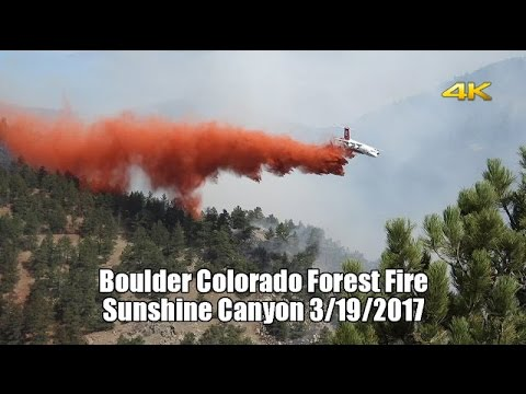 Boulder Colorado Forest Fire just minutes from downtown! 4k