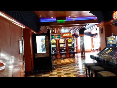 Casino in a luxury cruise line