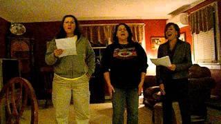 Paula, Tina & I singing Jesus, Messiah