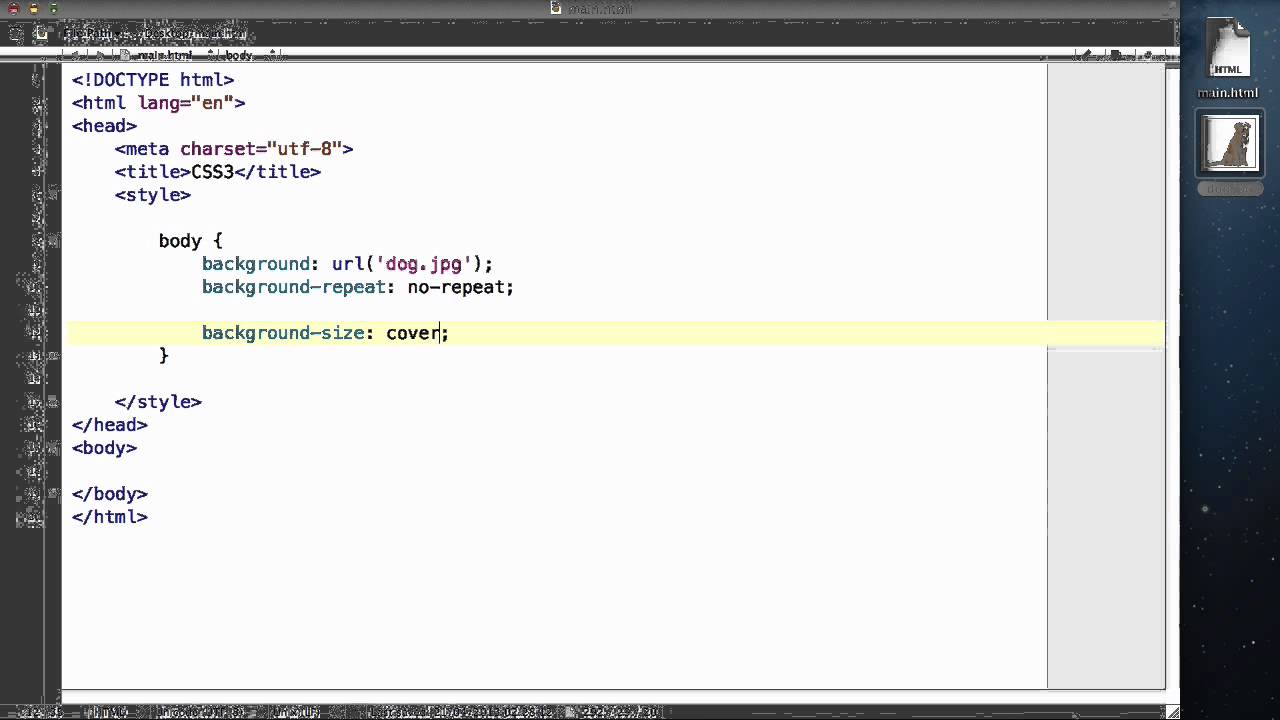 CSS3 - 12. Changing your background image size - YouTube