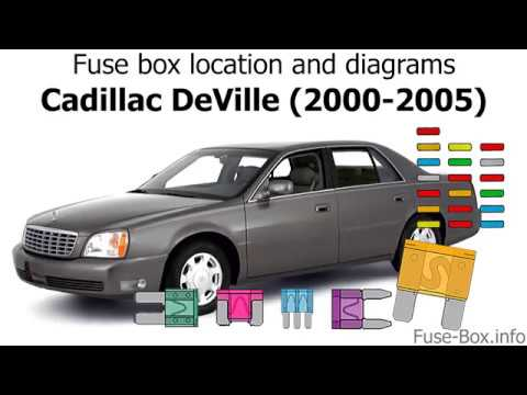 fuse box location and diagrams: cadillac deville (2000-2005)