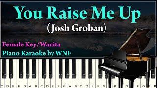 Josh Groban - You Raise Me Up Karaoke Female Lower Version