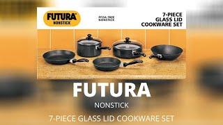 Hawkins Futura Nonstick 7 piece glass lid cookware set