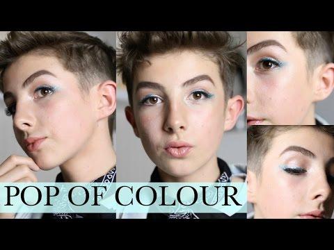 Pop of Colour Summer Makeup Look | Blue Eyeliner & Nude Lip