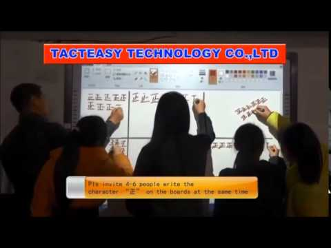 Six users writing 2 from The Best China infrared interactive whiteboard manufacturer - TACTEASY.com