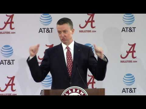 Alabama introduces Greg Byrne as new athletics director