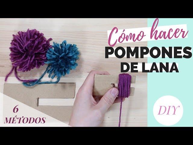 CÓMO HACER POMPONES de lana 【 6 métodos 】 | DIY