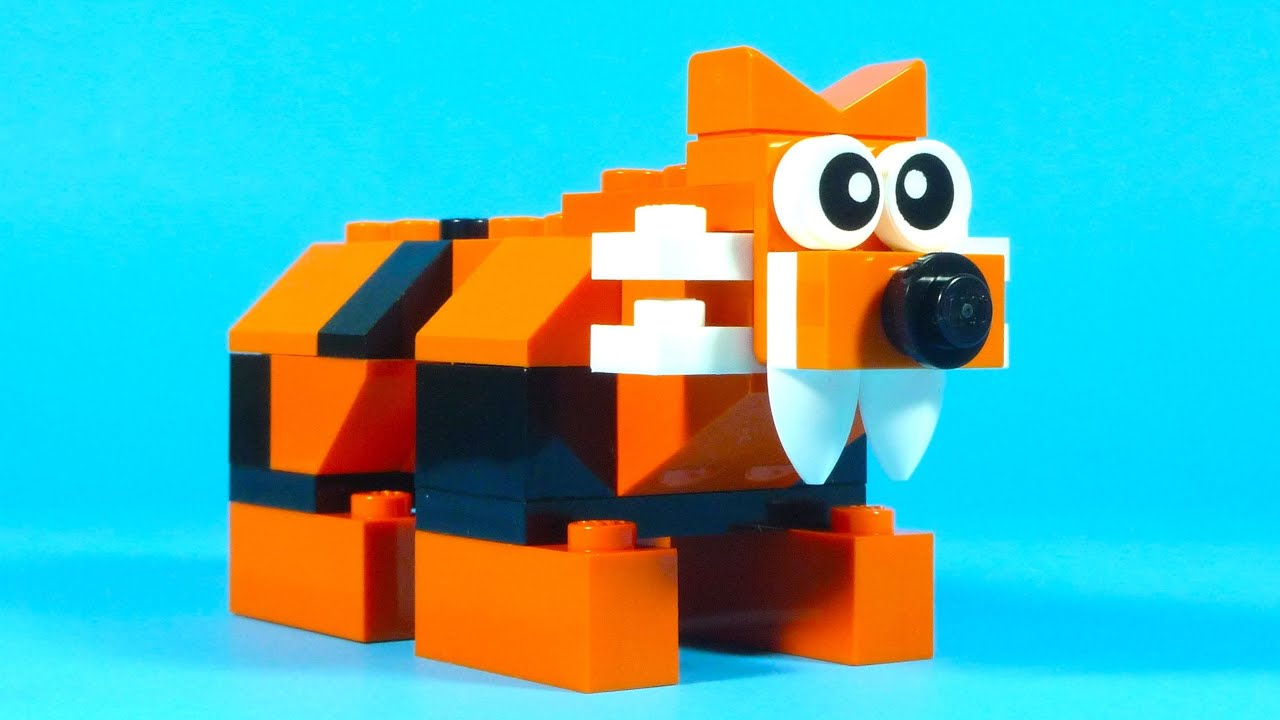 How To Build Lego TIGER  10681 LEGO Creative Building Cube Creations for Kids  YouTube