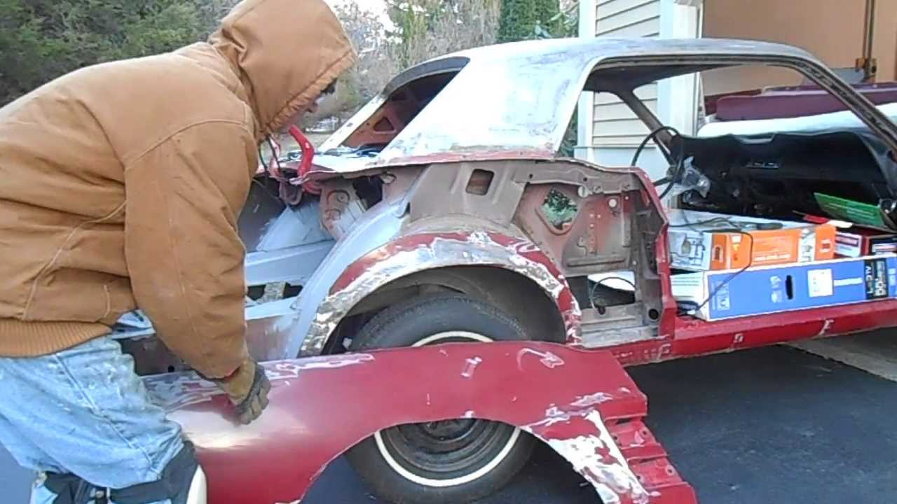 Rear Quarter Panel Removal Part 1 - YouTube