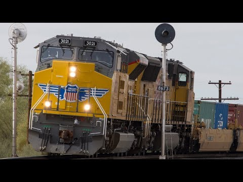 (4K) Union Pacific Trains on the Gila Subdivision