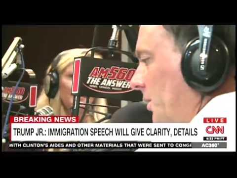 Dan & Amy Talk Trump's Immigration Plan, as seen on CNN