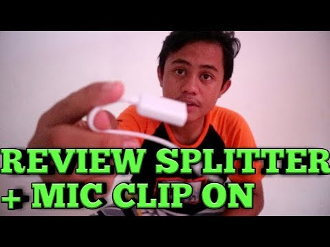 REVIEW SPLITTER AUDIO CABLE + MIC CLIP ON
