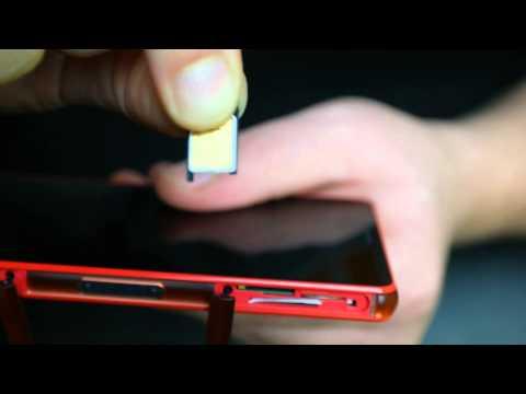 Sony Xperia Z3 Compact: SIM und Speicherkarte einlegen / wechseln
