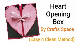Heart Opening Box Tutorial Origami | Heart Box Tutorial | By Crafts Space