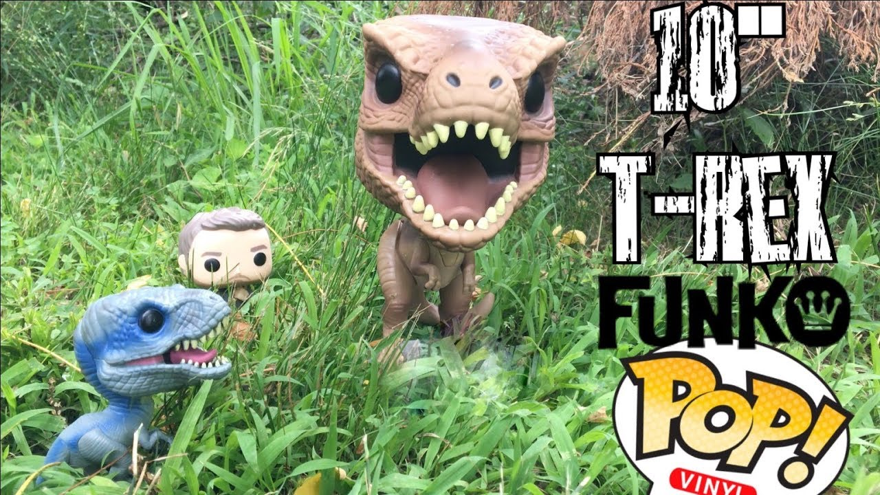 "Fallen Kingdom Jurassic World Vinyl Figure Tyrannosaurus Rex 10"" Pop"