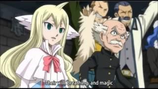Natsu vs Sting and Rogue English Subbed (Twin Dragons) Full fight
