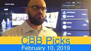 NCAAB Picks (2-10-19) | College Basketball CBB Expert Predictions | NCAAM | Men's NCAA