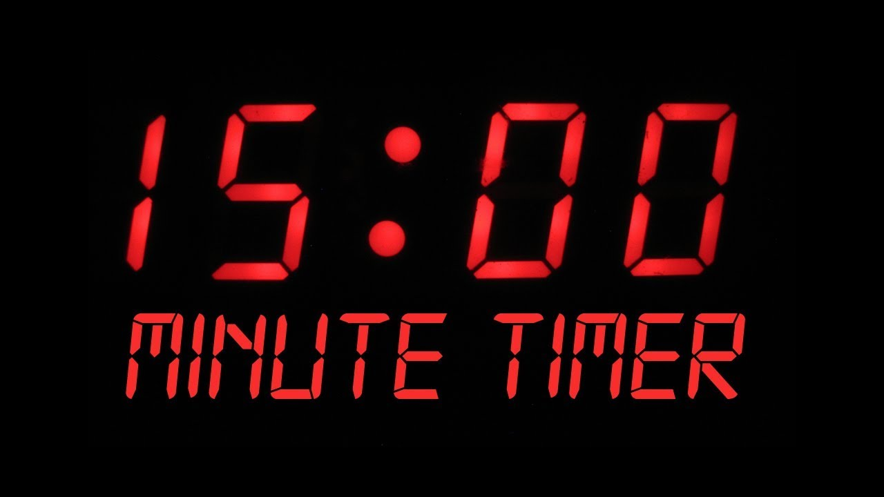 15 Minute Countdown Timer Alarm Clock