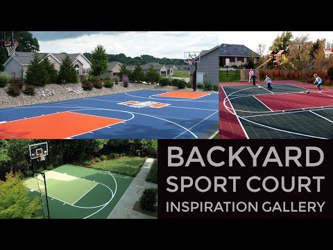 Backyard Sport Court Design Inspiration Gallery - VizX Design Studios - (855) 781-0725