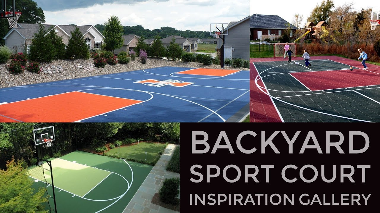 Backyard sport court design inspiration gallery vizx Backyard sport court