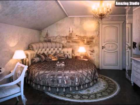 schlafzimmer wandbild rundbett - youtube, Möbel