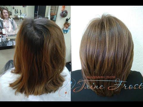 Формула окрашивания волос в карамельный цвет