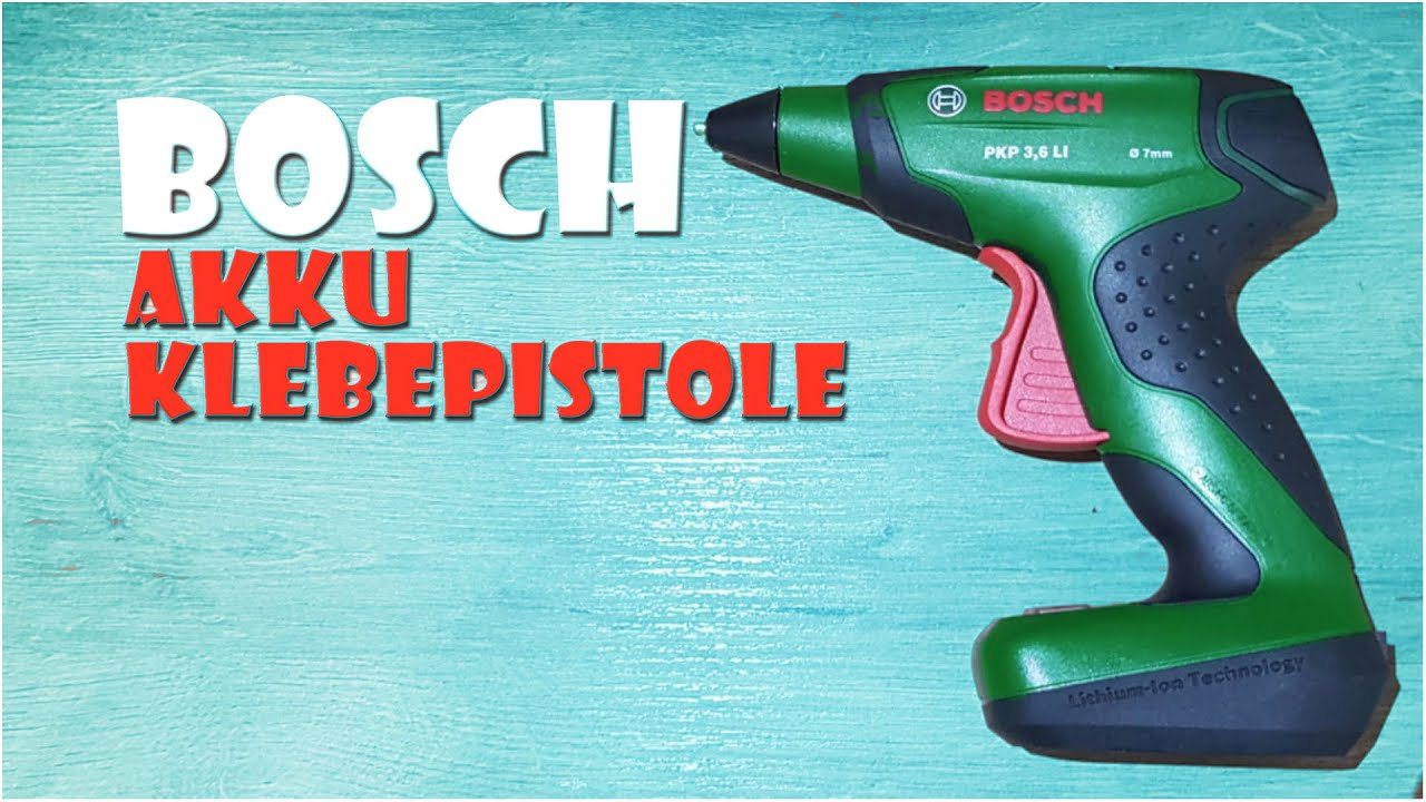 unboxing: bosch pkp 3,6 li akku klebepistole - accu hot glue gun