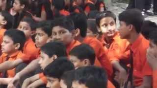 Bihar India School AssemblyBoys Sitting/Girls Standing