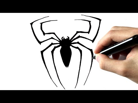 how to draw spiderman logo step by step