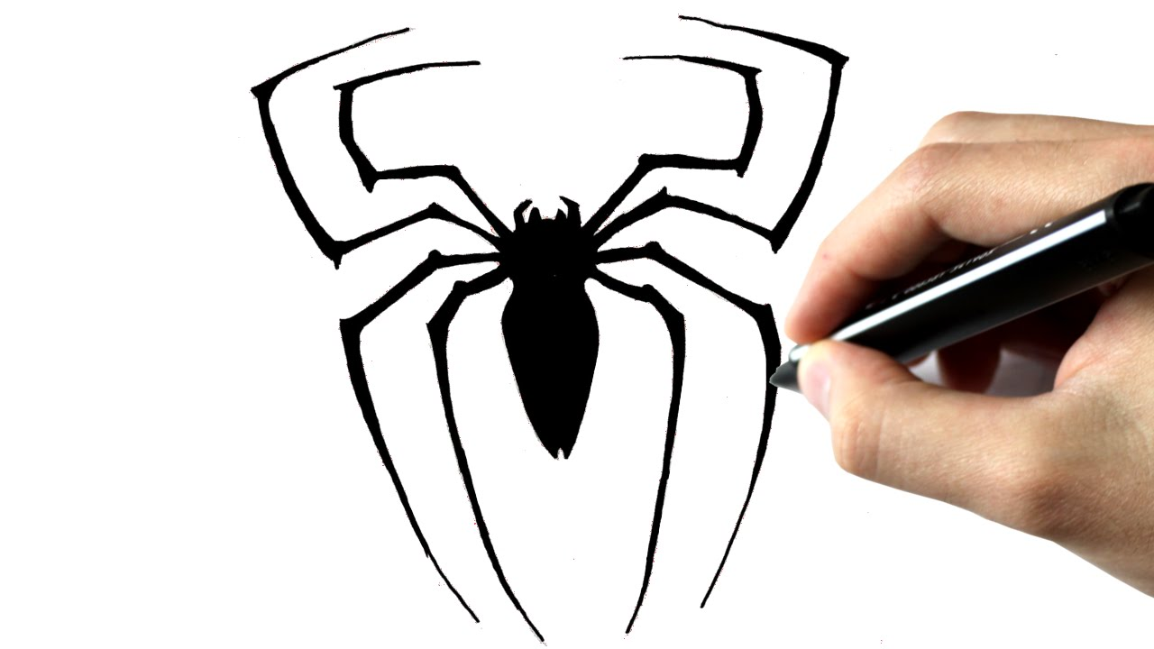 Comment dessiner l 39 araign e de spiderman youtube - Dessin a imprimer de spiderman ...