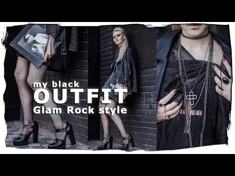 My Black Outfit Glam Rock Style Youtube