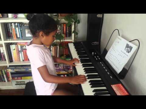Sadiya's first piano song - hey Mr half note dot