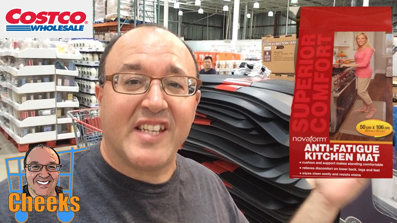 Costco Shopping Novaform Anti-Fatigue Kitchen Mat - YouTube