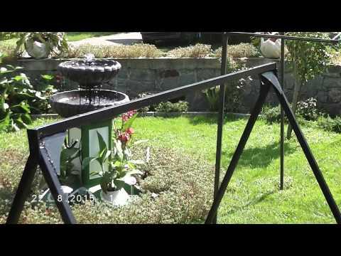 Garden swing chair homemade