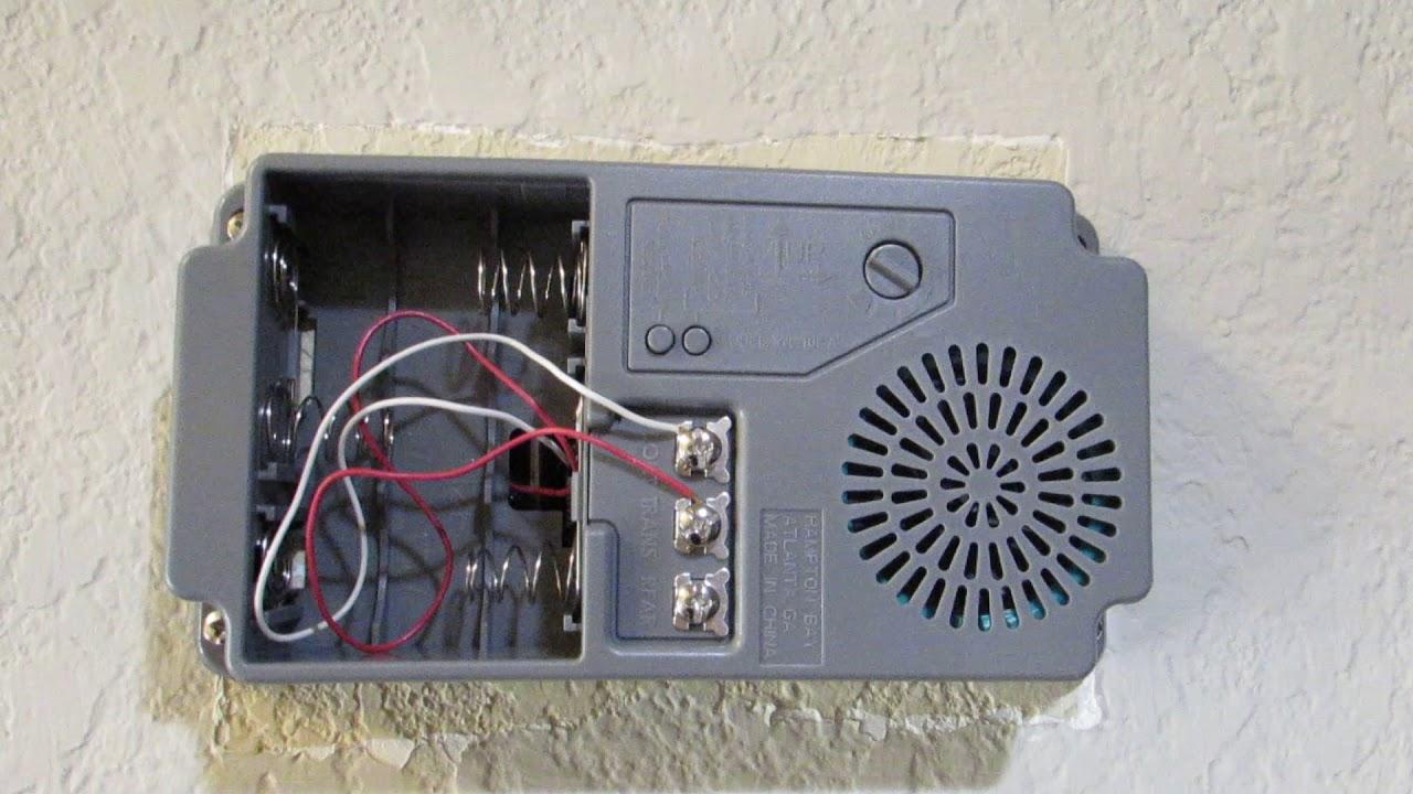 hampton bay door bell wired or wireless demo review [ 1280 x 720 Pixel ]