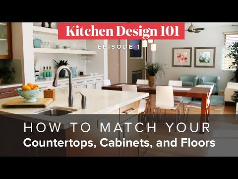 How To Match Your Countertops, Cabinets, And Floors | Kitchen Design 101, Ep1