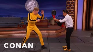 Steven Ho Teaches Conan How To Fight Like Bruce Lee  - CONAN on TBS