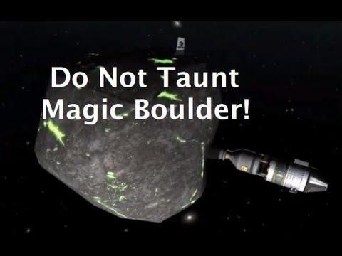 Visiting the Magic Boulder In Kerbal Space Program