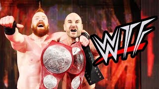 wwe raw wtf moments   pete dunne debuts cesaro sheamus new tag champs