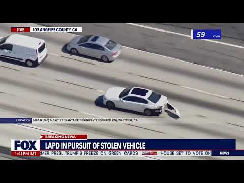 Police Chase: Out of control chase in Los Angeles, California I NewsNOW from FOX