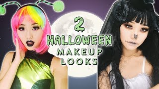 Halloween Makeup Looks | Dead Bride + Party Alien Girl