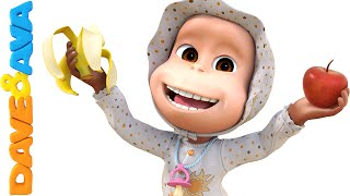 Repeat youtube video Apples and Bananas Song | Nursery Rhymes and Baby Songs from Dave and Ava