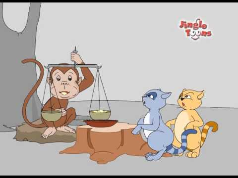 Monkey  Two Cats      Gujarathi Panchtantra  Animated Story by Jingle Toons