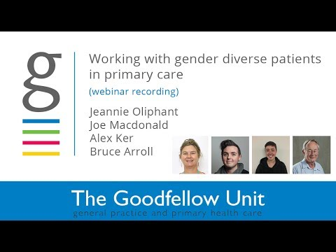 Goodfellow Unit Webinar: Working with gender diverse clients