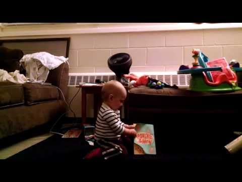 Baby Dancing To Musical Birthday Card Is The Cutes