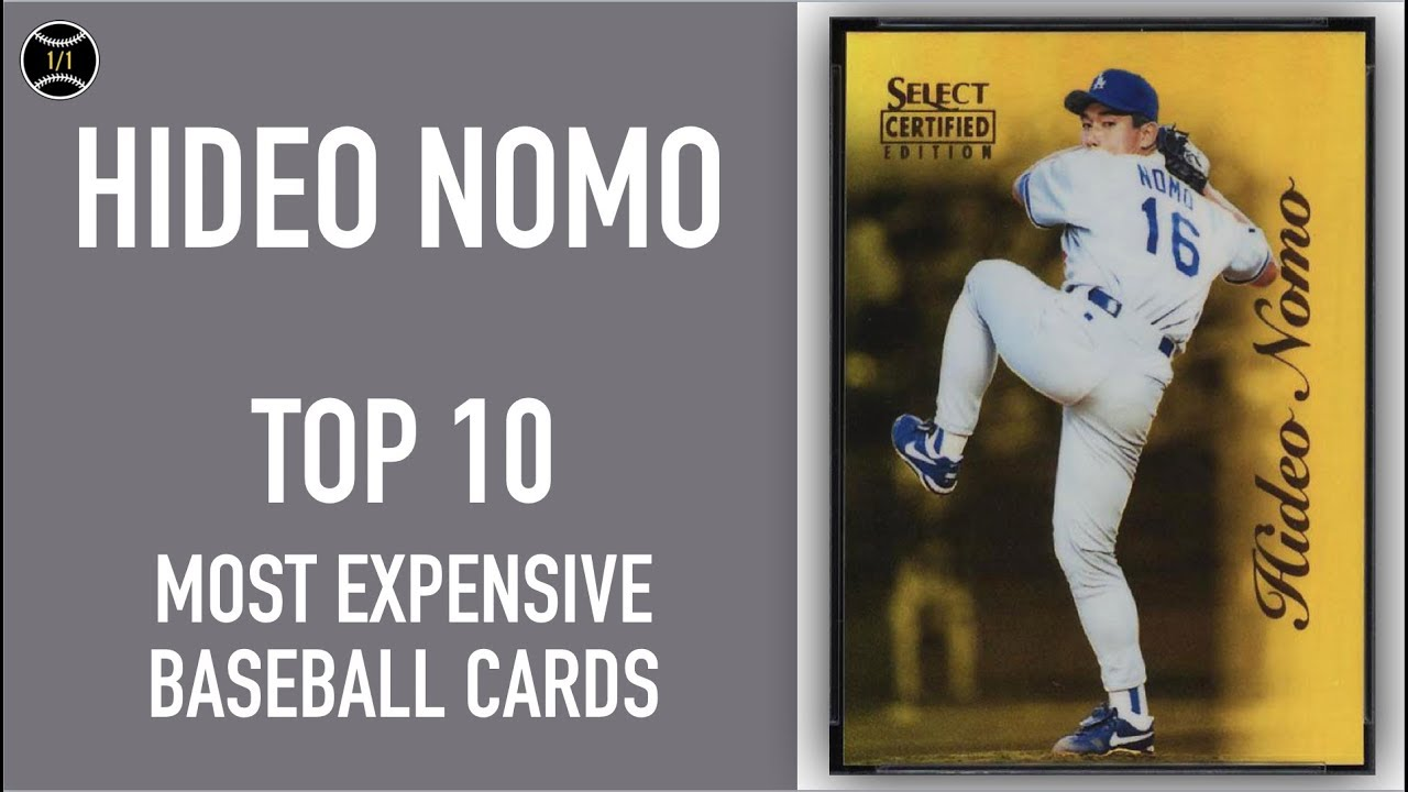 Hideo Nomo Top 10 Most Expensive Baseball Cards Sold On Ebay December February 2019