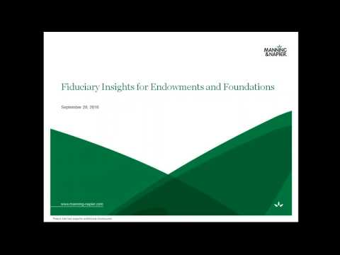 Webinar: Fiduciary Insights for Endowments & Foundations