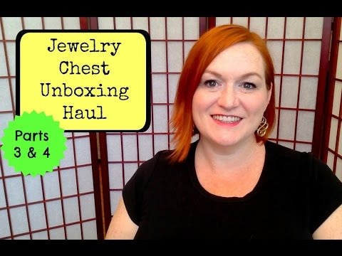 Jewelry Haul Parts 3 & 4 - Huge Jewelry Chest Unboxing - How I Make Money Selling Online
