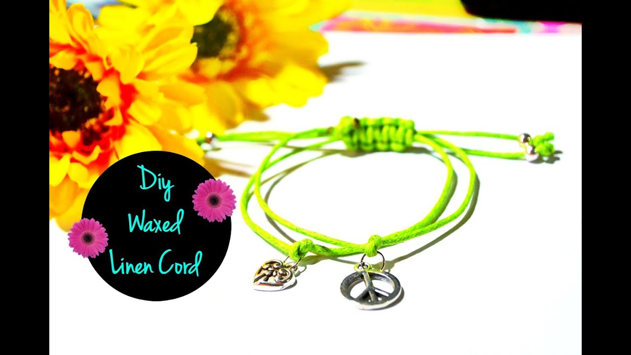 to make korea a braided bracelet wax step cord cotton how using waxed